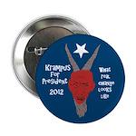 Krampus for President 2012 button