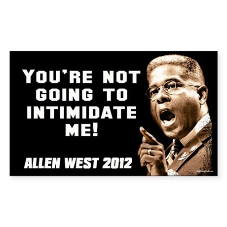 Allen West - Intimidate Sticker (Rectangle 10 pk)