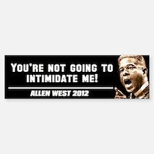 Allen West - Intimidate Sticker (Bumper)
