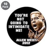 """Allen West - Intimidate 3.5"""" Button (10 pack)"""