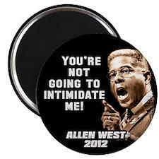 "Allen West - Intimidate 2.25"" Magnet (100 pack)"