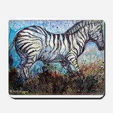 Zebra, colorful, Mousepad