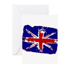 Retro Shredded Union Jack Greeting Cards (Pk of 10