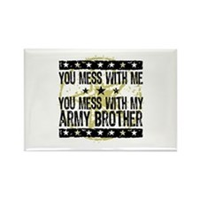 Army Brother Rectangle Magnet