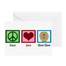 Peace Love Chow Greeting Cards (Pk of 10)