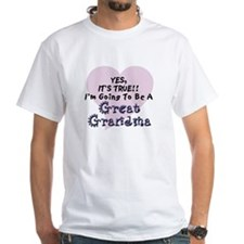 True Great Grandma To Be Shirt