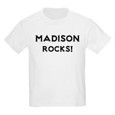 Madison Rocks! Kids T-Shirt