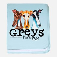 Greys Fan Funny baby blanket