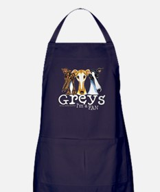 Greys Fan Funny Apron (dark)