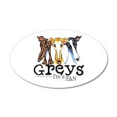 Greys Fan Funny 22x14 Oval Wall Peel