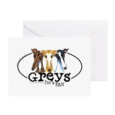 Greys Fan Funny Greeting Card