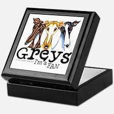 Greys Fan Funny Keepsake Box