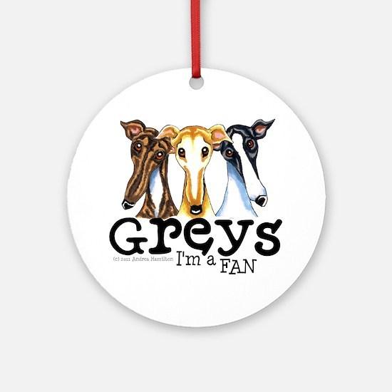 Greys Fan Funny Ornament (Round)