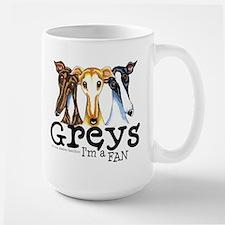 Greys Fan Funny Large Mug