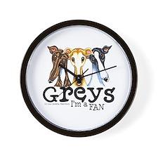 Greys Fan Funny Wall Clock