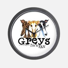 Greys Fan Funny Wall Clock
