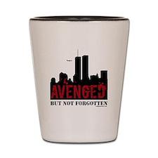 9/11 avenged not forgotten Shot Glass