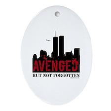 9/11 avenged not forgotten Ornament (Oval)