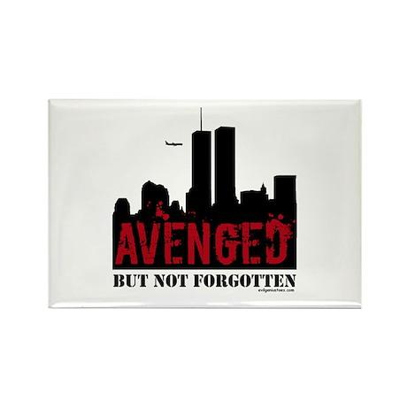 9/11 avenged not forgotten Rectangle Magnet (10 pa