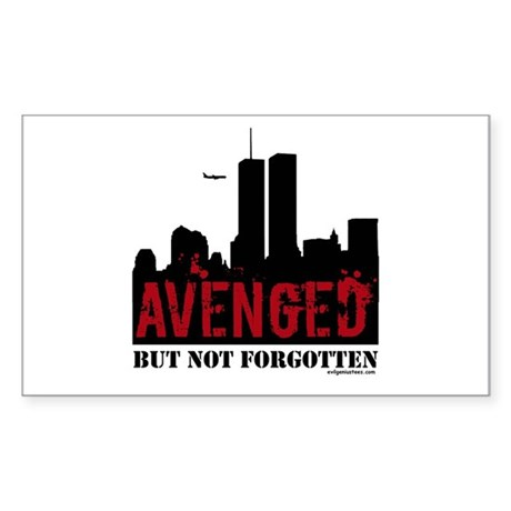 9/11 avenged not forgotten Sticker (Rectangle)