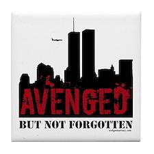 9/11 avenged not forgotten Tile Coaster