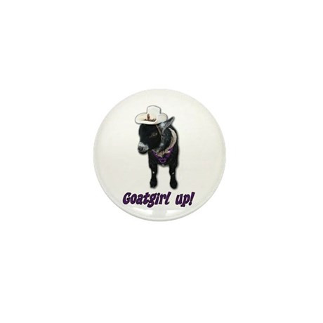 Pygmy Goat Girl Up Mini Button (10 pack)