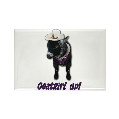 Pygmy Goat Girl Up Rectangle Magnet (10 pack)