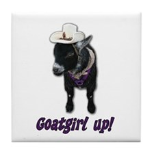 Pygmy Goat Girl Up Tile Coaster