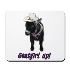 Pygmy Goat Girl Up Mousepad