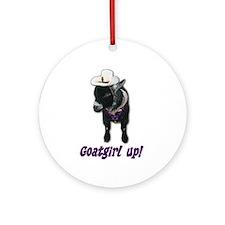 Pygmy Goat Girl Up Ornament (Round)