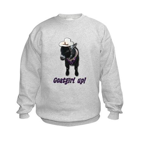 Pygmy Goat Girl Up Kids Sweatshirt