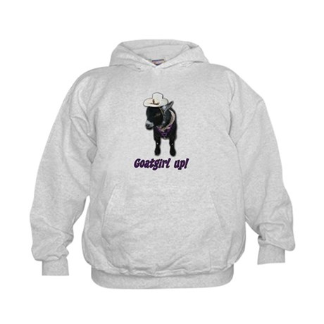 Pygmy Goat Girl Up Kids Hoodie