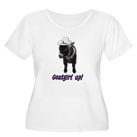 Pygmy Goat Girl Up Women's Plus Size Scoop Neck T-