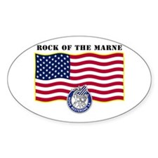 Rock of the Marne Oval Decal