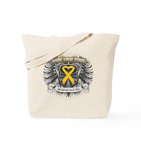 Child Cancer Hope Love Tote Bag