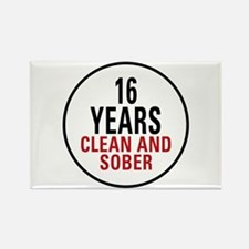 16 Years Clean and Sober Rectangle Magnet
