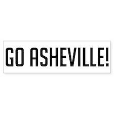 Go Asheville! Bumper Bumper Sticker