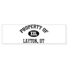 Property of Layton Bumper Bumper Bumper Sticker