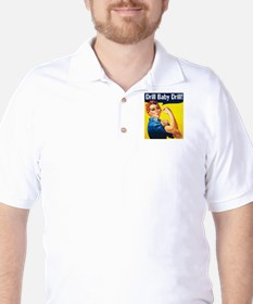 drill baby drill Golf Shirt