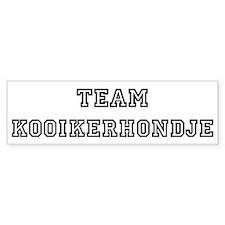Team Kooikerhondje Bumper Bumper Sticker