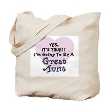 True Aunt To Be Tote Bag