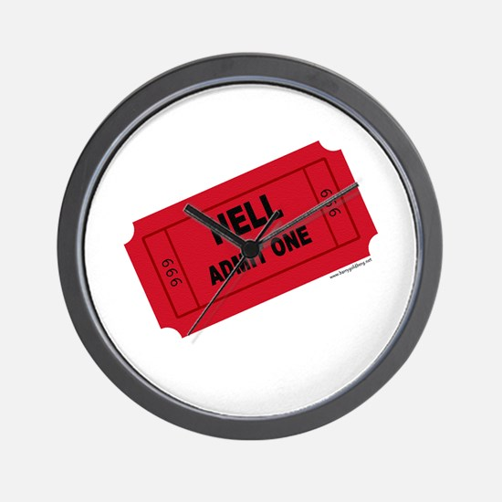 Ticket To Hell Wall Clock