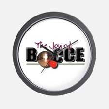 Funny Bocceball Wall Clock