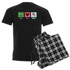 Peace Love Bulldogs Pajamas