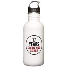 17 Years Clean & Sober Water Bottle