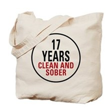 17 Years Clean & Sober Tote Bag