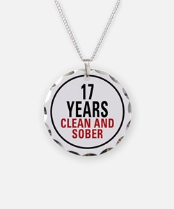 17 Years Clean & Sober Necklace