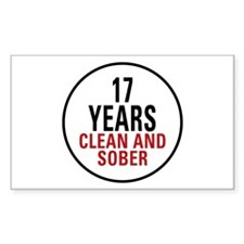 17 Years Clean & Sober Decal