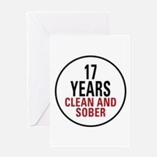 17 Years Clean & Sober Greeting Card