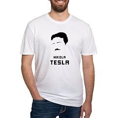 Nikola Tesla Silhouette Fitted T-Shirt